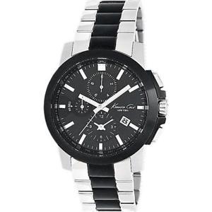 【送料無料】orologio uomo kenneth cole kc9099 york chrono bracciale acciaio nero kc