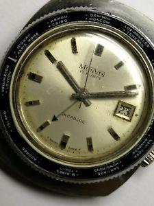 【送料無料】wrist alarm vintage watch bakelite