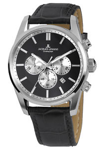 【送料無料】jacques lemans herrenuhr chronograph classic chrono 426a