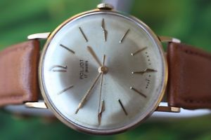 【送料無料】vintage mens big goldplated russian mech poljot kirowskie watch 16 jewels