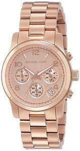 【送料無料】michael kors mk5128 womens runway rose goldtone watch