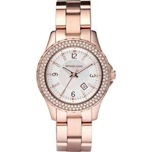 【送料無料】icial michael kors ladies mk5403 madison rose gold chronograph watch rrp 229