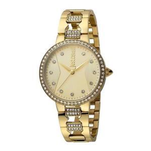 【送料無料】orologio solo tempo donna just cavalli acciaio pvd oro cristalli jc1l031m0075