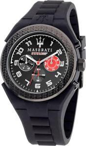orologio uomo maserati pneumatic r8851115006 multifunzione silicone nero rosso