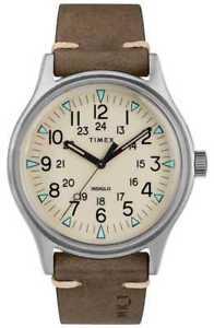 timex mens mk1 sst chrono 40mm case brown leather tw2r96800 watch  5