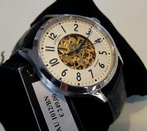 【送料無料】orologio uomo automatico,autologico italy,classic,scheletrato,cassa acciaio 42mm
