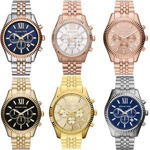 【送料無料】michael kors gents lexington gold tone stainless steel chronograph watch mk8313