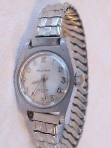 【送料無料】waltham 17 jewel incabloc silver tone manual wind wrist watch ladies working