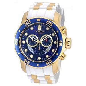 【送料無料】invicta pro diver 20288 stainless steel, silicone chronograph watch