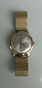 【送料無料】vintage 10k rgp mens elgin 17 jewels swiss wristwatch