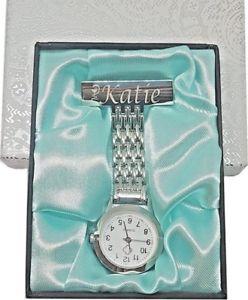 【送料無料】personalised nurses fob watch engraved medical graduation watch gift for her