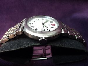 victorinox swiss army mens cavalry ii large 24398 stainless bracelet watch