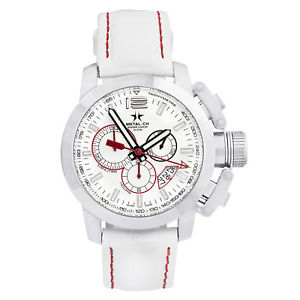 【送料無料】metalch chronometrie chrono series mens chronograph swiss made watch 211044