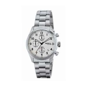 【送料無料】orologio uomo breil tribe sport elegance ew0261 chrono bracciale acciaio bianco