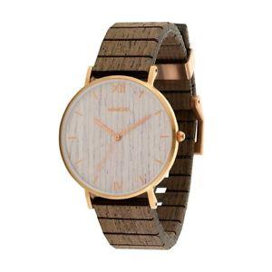 【送料無料】orologio in legno wewood aurora rose gold apricot wood watch