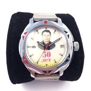 【送料無料】modern vostok vladimir zhirinovsky windup watch collectible *us seller* 1102