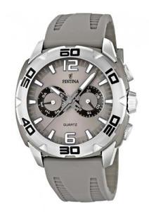 【送料無料】orologio uomo festina sport f166652 multifunzione silicone grigio