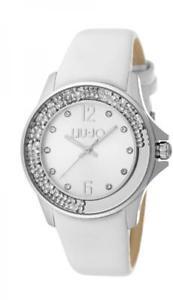【送料無料】orologio donna liu jo luxury dancing tlj1154 vera pelle bianco swarovski lady