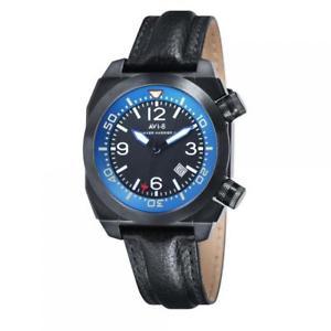 【送料無料】orologio uomo avi8 hawker harrier ii av400504 pelle nero blu sub 50mt