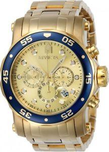 【送料無料】invicta mens pro diver quartz chronograph stainless steel 200m watch 23669