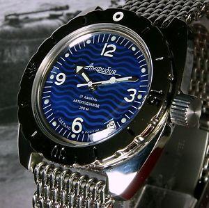 【送料無料】vostok amphibian, amphibia russian auto dive watch, , boxed, uk seller