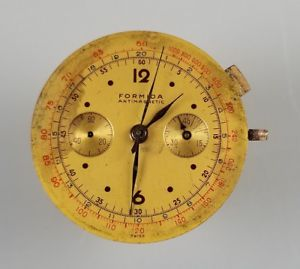 【送料無料】vintage 2 register chronograph wrist watch movement landeron 55