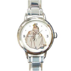 【送料無料】cinderella bride watch round italian charm watch wristwatch