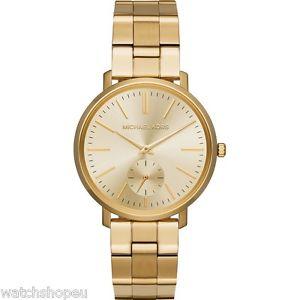【送料無料】 michael kors mk3500 ladies gold jaryn watch 2 years warranty