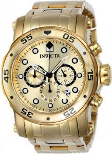 【送料無料】23652 invicta mens pro diver quartz chrono 200m gold tone stainless steel watch