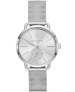【送料無料】michael kors womens portia stainless steel mesh bracelet watch mk3843