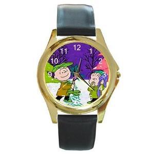 【送料無料】charlie brown amp; linus christmas goldtone watch 3 other styls sports, charm, etc