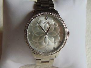 【送料無料】invicta 35mm wildflower collection swarovski crystal bezel stainless steel watch