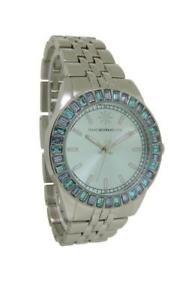 isaac mizrahi live j275806011000 womens round light blue analog watch
