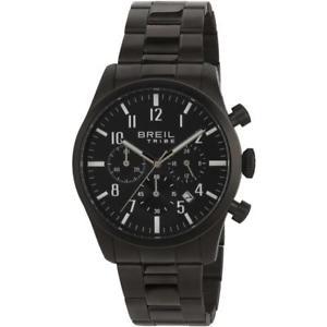 【送料無料】orologio uomo breil tribe classic elegance ew0358 chrono bracciale acciaio nero