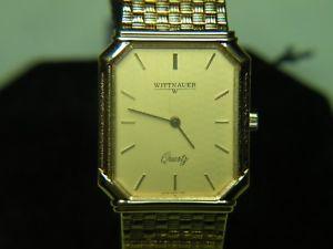 【送料無料】neues angebotmens rare amp; vintage wittnauer premier quartz swiss gold watch nos 61234002