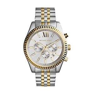 【送料無料】 michael kors mk8344 two tone lexington chronograph watch 2 years warranty