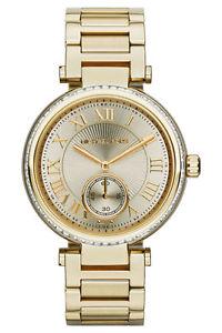 【送料無料】 michael kors mk5867 ladies gold skylar watch 2 year warranty