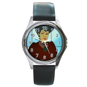 送料無料 lady tremaine cinderellas mother watch round 販売 metal ※アウトレット品 wristwatch