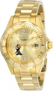 24473 invicta38mmwomens character quartz gold tone stainless steel 100m watch