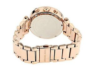 michael kors parker mk5491 ladies chronograph watch rose gold stainless steel
