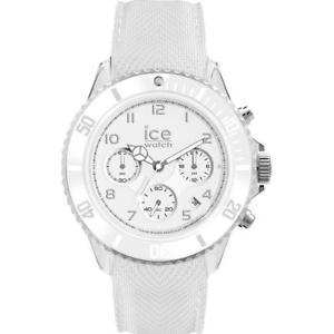 【送料無料】orologio uomo ice watch dune ic014217 chrono silicone bianco 100mt