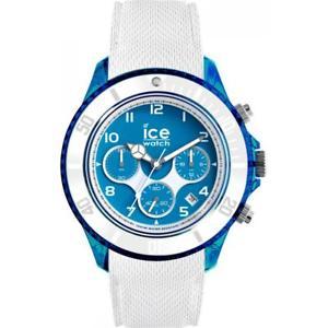 【送料無料】orologio uomo ice watch dune ic014220 chrono silicone bianco azzurro sub 100mt