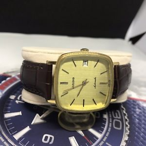 vintage rado  automatic eta watch  revisionato  swiss made  gold plated rare