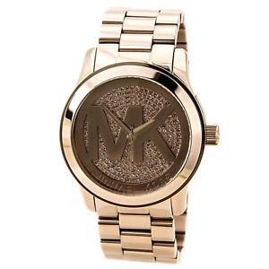 【送料無料】michael kors mk5661 womens uptown glam rose gold steel watch