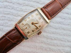 【送料無料】mens vintage 1940s wittnauer swiss made manual wind wristwatch