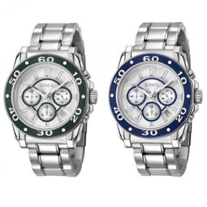 【送料無料】orologio uomo breil manta alu chrono verde blu bracciale alluminio sub 100mt dd
