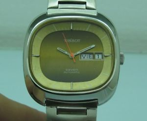 tissot seven automatic tv cal 2940 ref 66003 stainless steel 38mm
