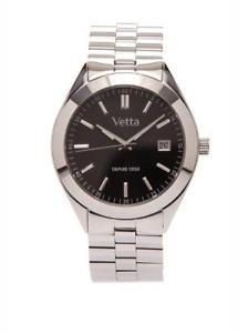 【送料無料】orologio donna vetta montreal vw0095 bracciale acciaio nero zaffiro classico