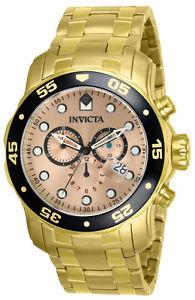 【送料無料】invicta 80063 chronograph gold pro diver 200 m swiss ret795 0072 a 0074