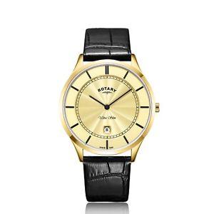 【送料無料】gents rotary ultra slim watch gs0841303 rrp 14900 our 11095